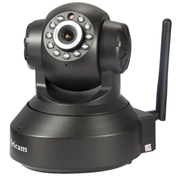 Sricam SP012 Black Free P2P Wireless Camera 128GB Voice Record 2-way Audio WiFi Home Security Camera for Infants