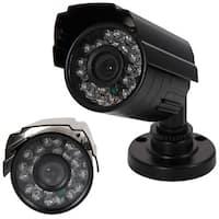 1300TVL Black Metal Housing NTSC 3.6mm 24-LED IR-CUT Security Camera
