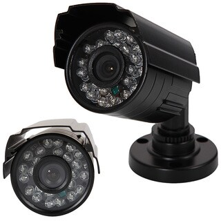1300TVL Black Metal Housing NTSC 3.6mm 24-LED IR-CUT Security Camera