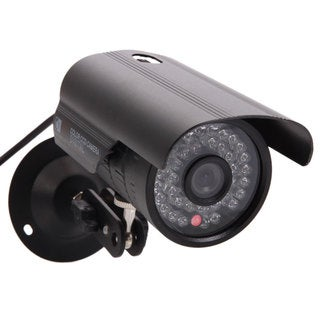 Black 1/3 CMOS 1200TVL NTSC 6mm 36-LED Outdoor Waterproof Infrared Security Camera