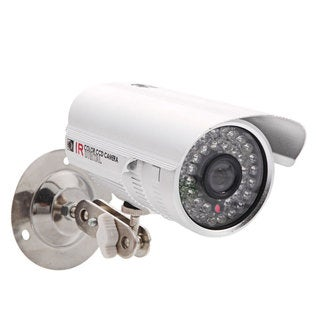 Silver 1/3-inch CMOS 1200TVL 6-millimter 36-LED NTSC Waterproof HD Infrared Security Camera