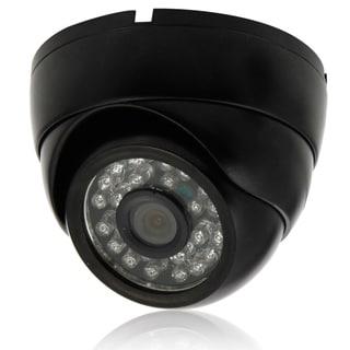 1000TVL Black 1/4-inch CMOS 3.6mm 24-LED NTSC IR-CUT Conch-shaped Security Camera