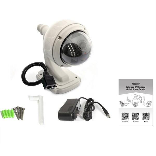 720P HD Wireless P2P Wifi IR-Cut Outdoor Network Pan//Tilt Home IP Camera Sricam