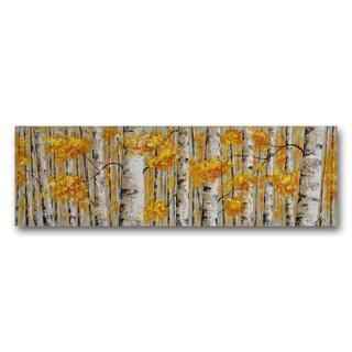 Benjamin Parker 'Golden Aspens' Hand-painted Wall Art|https://ak1.ostkcdn.com/images/products/14781232/P21302980.jpg?impolicy=medium