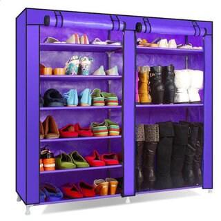 Double-row 9-Lattice Combination Style Shoe Cabinet