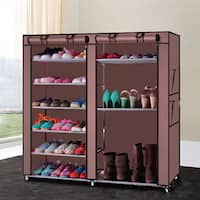 Double-row 9-lattice Combination Style Shoe Cabinet