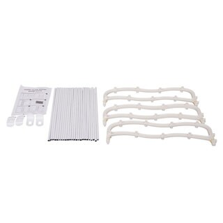 Wall-mounted White 12-Layer Shoe Rack