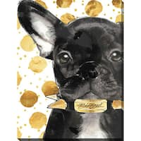 BY Jodi 'Blessed frenchie' Giclee Stretched Canvas Wall Art