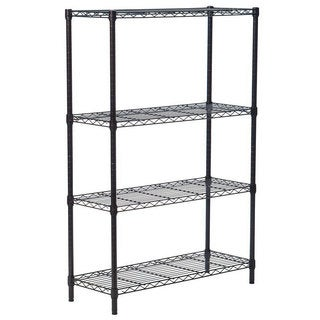 4-layer Wire Rack Metal Shelf Adjustable Unit 56 x 36 x 14-inch Garage Kitchen Storage