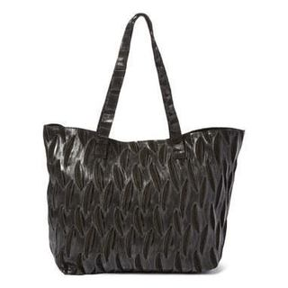 Viva Bags Leather Willow Reed Print Tote Bag