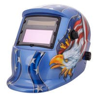 Cool Eagle Style Auto Color Changing Solar Power 96 x 48mm Single-panel Helmet Shield for Welding Blue