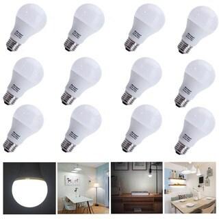 12pcs 60W A19/A60 6000-6500K White Light LED Light Bulbs Kit White