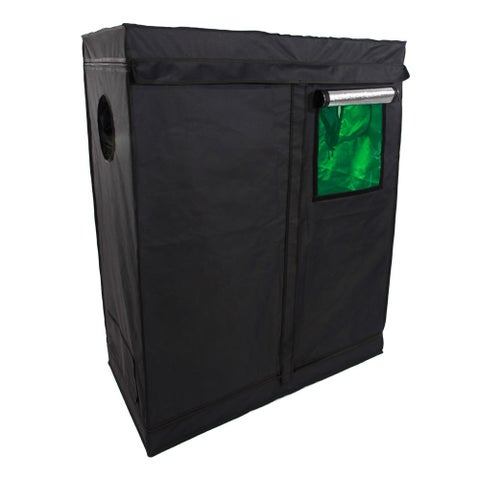 Green and Black 120 x 60 x 150cm Home Use Dismountable Hydroponic Plant Growing Tent