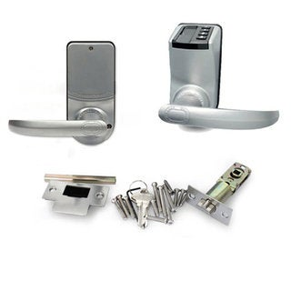 Adel 3398 Silver-colored Fingerprint Lock with Standby Lock