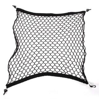 Black Nylon 70-centimeter Square Universal Car Trunk Luggage Nets (Set of 2)