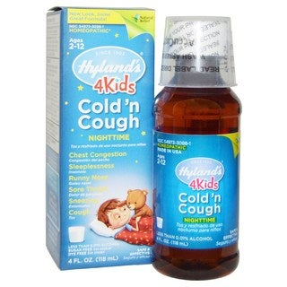 Hyland's 4 Kids 4-ounce Cold 'n Cough Nighttime Cold Syrup