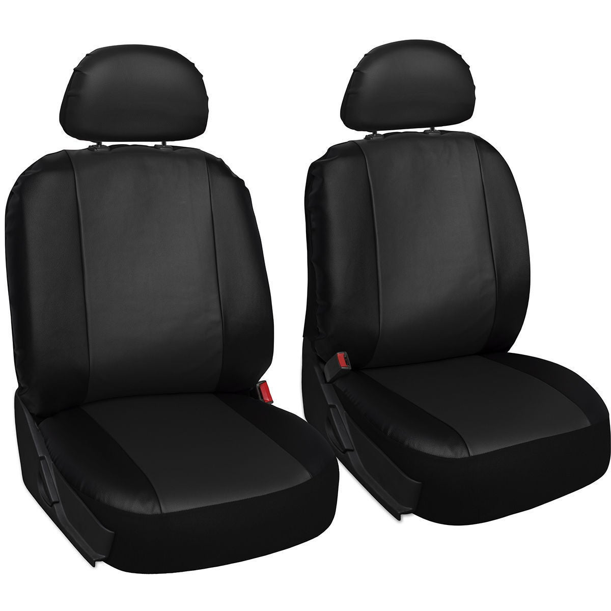 6pc Gray Black Seat Covers Separate Headrest Covers Universal Set