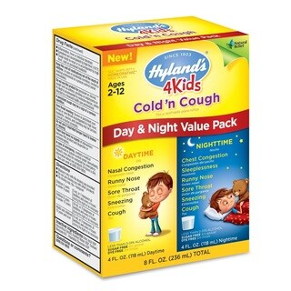 Hyland's 4 Kids Cold 'n Cough Day Night Value Pack