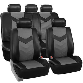 ZM16007 Black and Grey Well-equipped High Softness Car Seat Cover Set