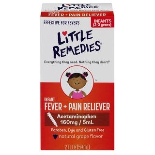 Little Remedies Grape 2-ounce Fever Pain Reliever