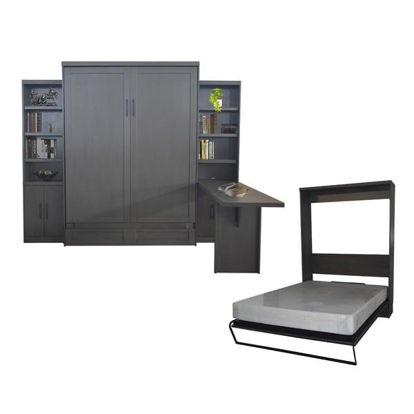 Shop Queen Andrew Murphy Bed With 2 Door Bookcases And