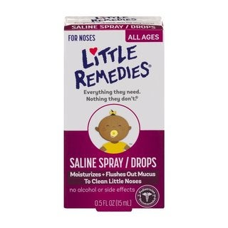 Little Remedies 0.5-ounce Saline Spray/Drops for Dry for Stuffy Noses