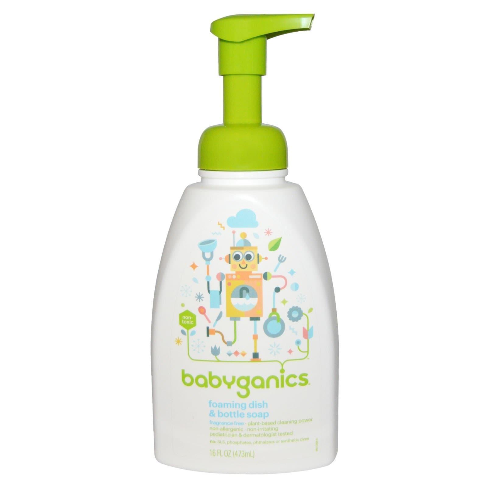 BabyGanics Fragrance-free 16-ounce Foaming Dish and Bottl...