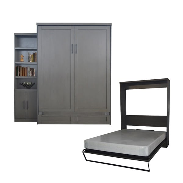 Shop Queen Size Andrew Murphy Bed With Door Bookcase In