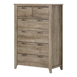 South Shore Lionel Weathered Oak 6-drawer Lingerie Chest