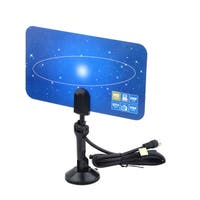 Digital HDTV/ VHF/ UHF/ DTV-ready High Gain Flat Indoor TV Antenna