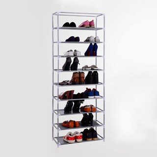 Portable 10-Tier Shoe Rack