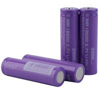 High Drain INR 18650 2500mAh 35A 3.7V Rechargeable Batteries (Pack of 4)