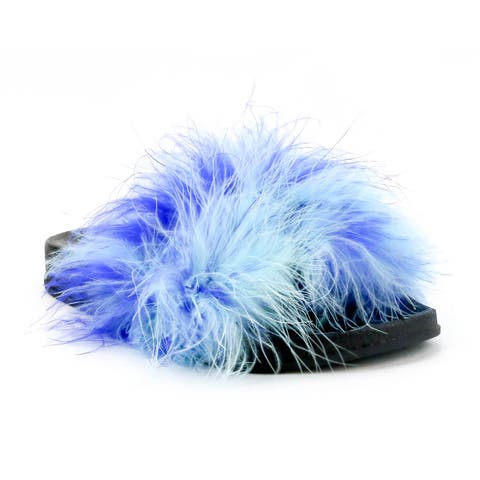 OMGirl Kate Marabou Faux Fur Slide Shoes