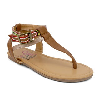OMGirl Tazia Multicolor Rubber and Polyurethane Sandals