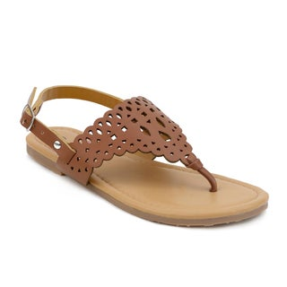 OMGirl Juna Girl's Cut-out Strap Sandals