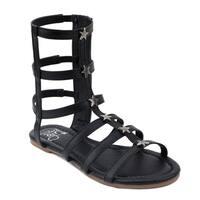 OMGirl Girls' Athena Tall Gladiator Sandals