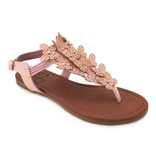 OMGirl Zinnia White/Pink Polyurethane/Rubber Sandals (Option: 5)