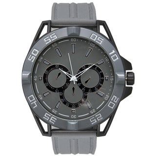 Olivia Pratt Men's Sporty and Modern Decorative Hardware Silicone Watch One Size