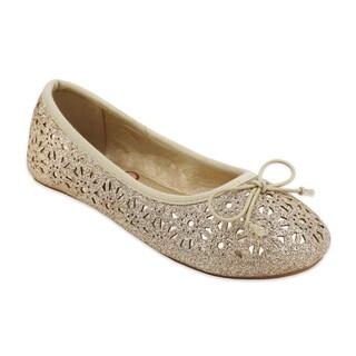 OMGirl Girls' Hedi Glitter Ballet Flats (Option: 5)