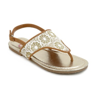 OMGirl Aerin Metallic Crochet Sandals
