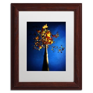 Philippe Sainte-Laudy 'Blue Autumn' Matted Framed Art