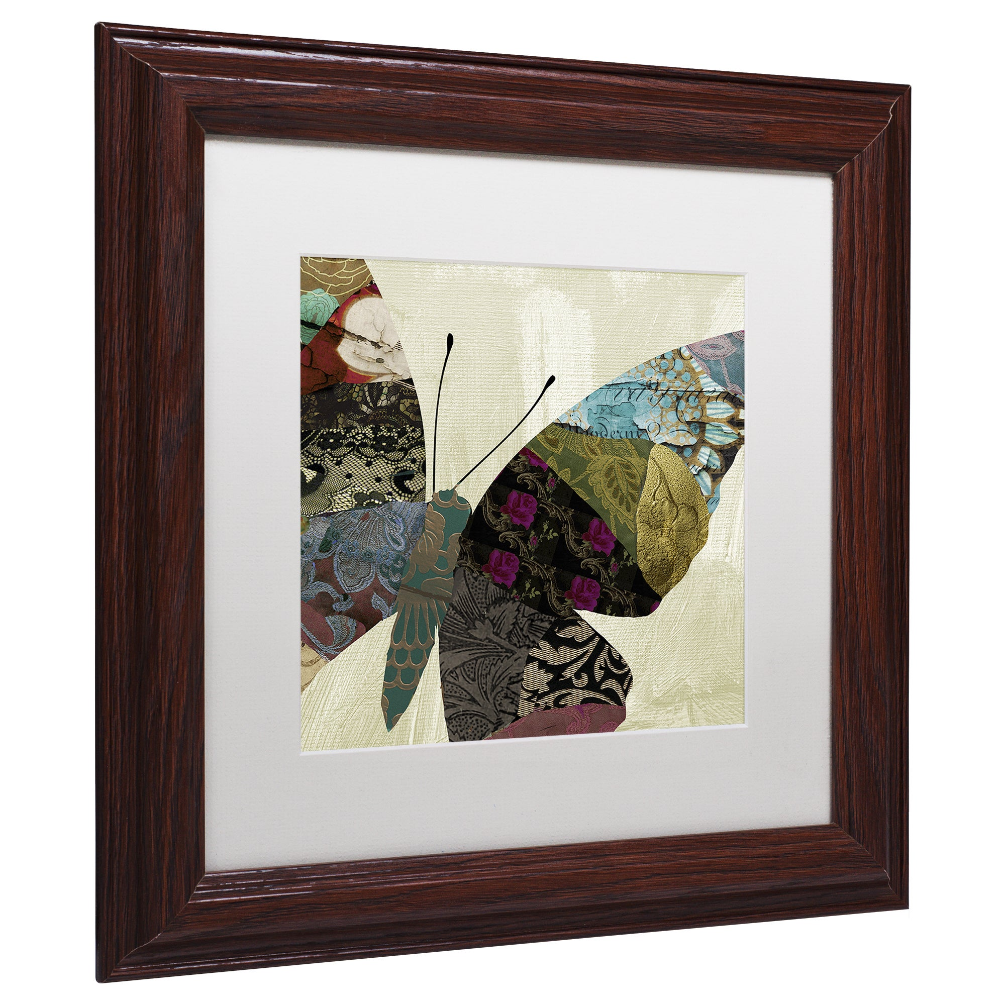 Color Bakery Butterfly Brocade Iv Matted Framed Art Brown Overstock 14782130