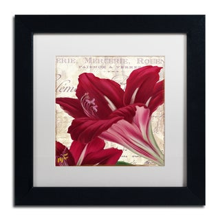 Color Bakery 'Amaryllis ' Matted Framed Art