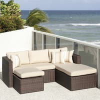Atlantic 3Piece Wicker Sectional with SUNBRELLA Antique Beige Cushions