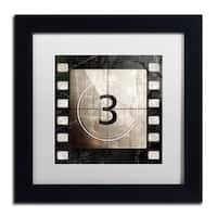 Color Bakery 'Vintage Countdown III' Matted Framed Art - Black