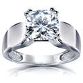 Solitaire 9 Size Women's, White Moissanite Rings