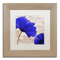 Color Bakery 'Coquelicots Bleues II' Matted Framed Art - Multi
