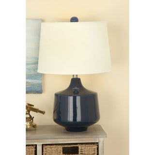 Urban Designs Bossa Nova Collection 23-Inch Glazed Ceramic Table Lamps - Set of 2