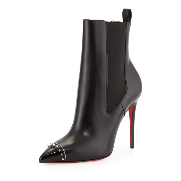 Christian Louboutin Banjo Black Spiked Booties