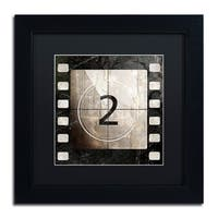 Color Bakery 'Vintage Countdown II' Matted Framed Art - Black